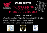 Curriculum Night for Incoming 6th Grade Students